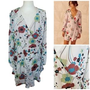 NWOT ASOS | Chiffon Floral Print Wrap Dress Lined